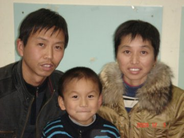 hu zheng hui with parents
